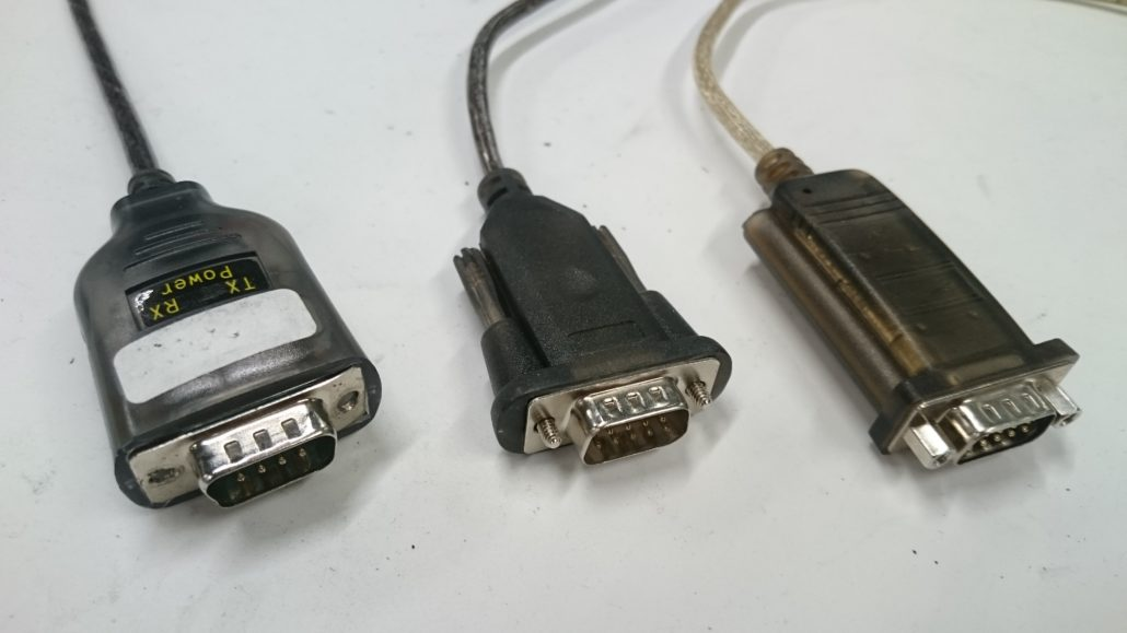a selection of usb to serial converters