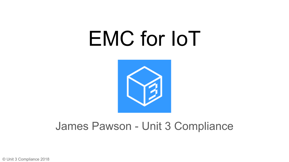 emc for iot slide front page
