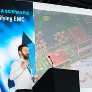 James Pawson presenting at R&S EMC 2019