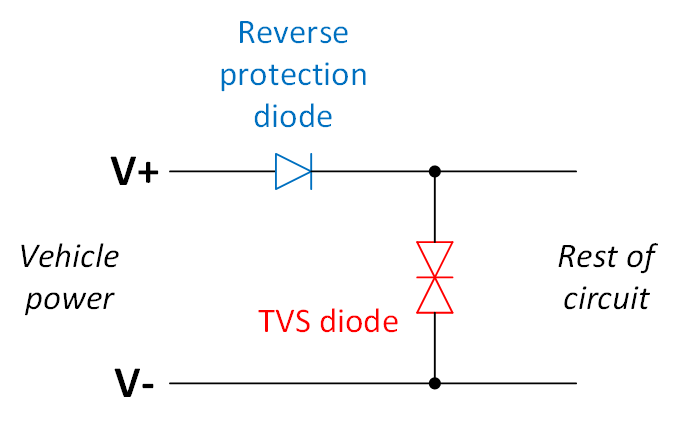 vehicle power input protection circuit